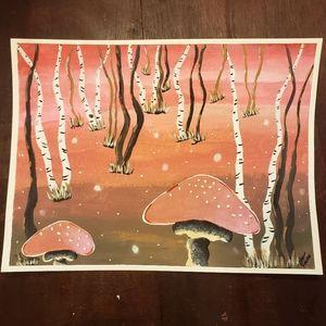 Magical mushrooms painting